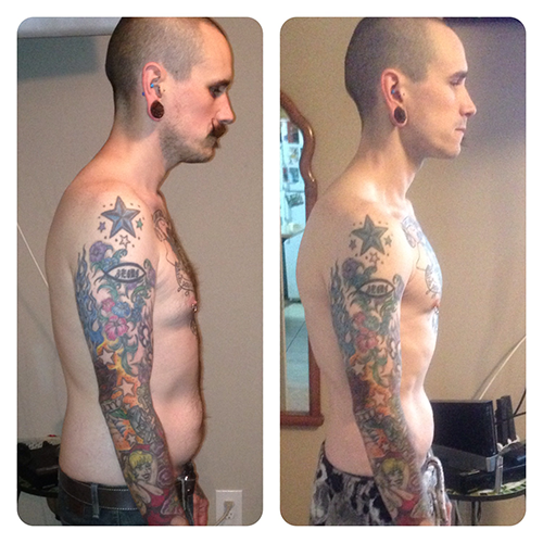 Joshua 3 Month Skinny-Fat Transformation - Side